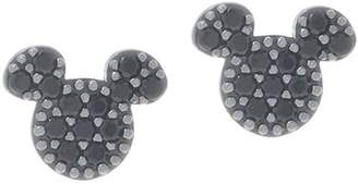 Disney Mickey's 90th Birthday Pave' Stud Earrings, Sterling Silver