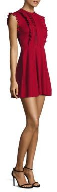 RED ValentinoRED Valentino Ruffle Cotton A-Line Dress