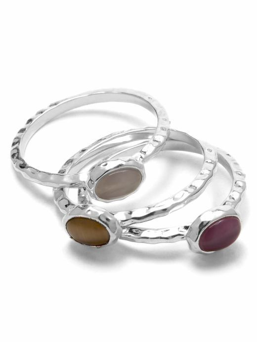 Stackable cabochon ring