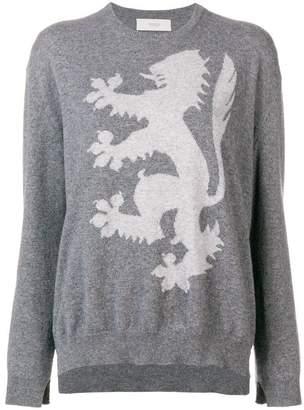 Pringle intarsia lion sweater
