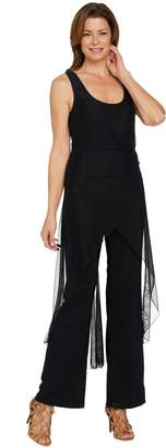 Women With Control Attitudes by Renee Regular Jumpsuit with Mesh Overlay
