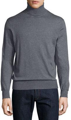 Neiman Marcus Cashmere-Silk Turtleneck Sweater $195 thestylecure.com
