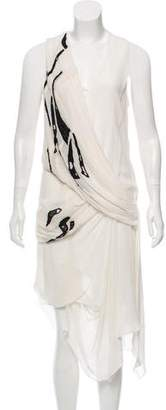 Helmut Lang Silk Embroidered Dress