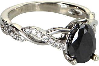 One Kings Lane Vintage 0.80ct Black Diamond Cocktail Ring - Precious & Rare Pieces