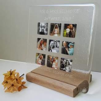 Martasha Personalised Photo Gifts Personalised Wedding Glass Photograph Display Frame