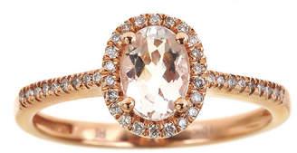 FINE JEWELRY LIMITED QUANTITIES Genuine Morganite and Diamond Halo Ring