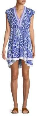 Poupette St Barth Sasha Print Mini Dress