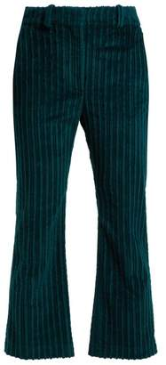 Altuzarra Adler Cropped Corduroy Trousers - Womens - Green