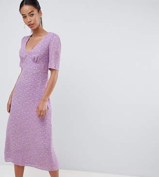 Fashion Union Tall tall midi tea dress in floral