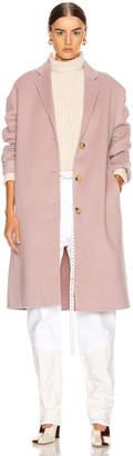 Acne Studios Avalon Coat in Powder Pink Melange | FWRD