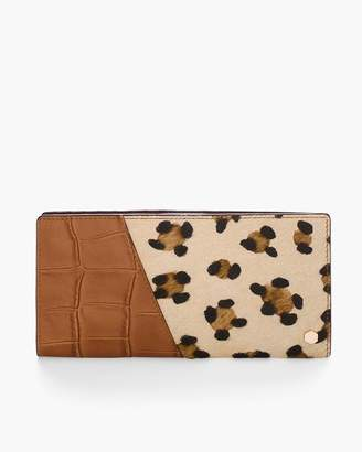 Chico's Chicos Leopard-Print Haircalf Wallet