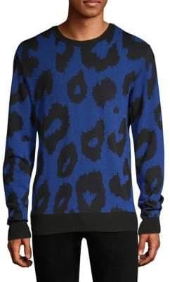 Versus By Versace Leopard Print Sweater