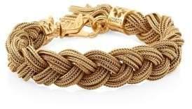 24K Goldplated Sterling Silver Braided Bracelet