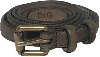 Dolce & Gabbana Brown Leather Belts