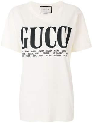 Gucci cities print T-shirt