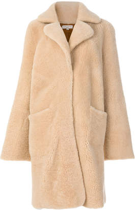 Natasha Zinko shearling bunny motif coat