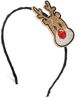 GiGi Girls' Embellished Reindeer Headband - 100% Exclusive