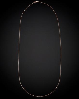 14K Italian Rose Gold Venetian Box Chain Necklace