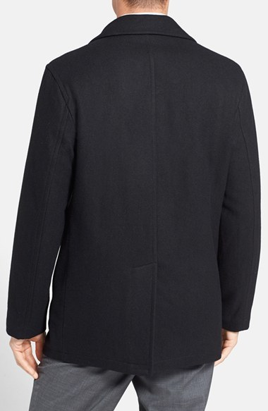 Men's Michael Kors Wool Blend Double Breasted Peacoat 4
