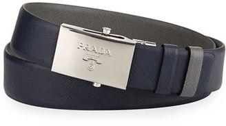 Prada Reversible Leather Plaque Belt $480 thestylecure.com