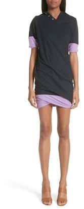 ATLEIN Contrast Trim Polo Dress