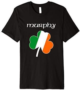 Murphy T Shirt Irish Name Shamrock