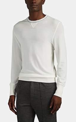 Eleventy Men's Wool Crewneck Sweater - Gray