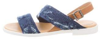 MM6 MAISON MARGIELA Distressed Woven Sandals w/ Tags