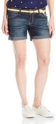 U.S. Polo Assn. Junior's Mabel Belted Stretch Denim Short