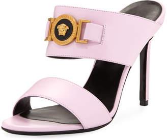 Versace Icon Medusa Calf Leather Mule Slide Sandals