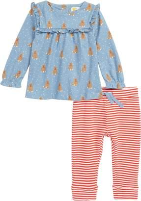 Boden Mini Boathouse Blue Baby Bars Tunic & Leggings Set
