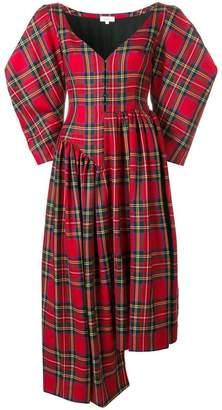 Isa Arfen asymmetric tartan dress