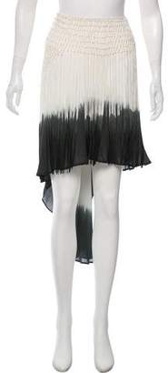Haute Hippie Macramé Trim Silk Skirt w/ Tags