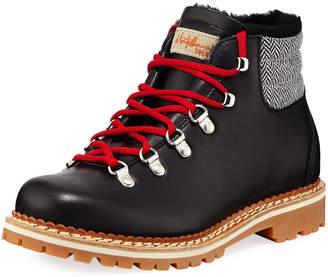 Margherita La Montelliana Bicolor Lace-Up Boots