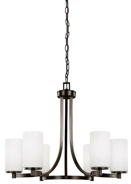 Darby Home Co Burnley 100W 6-Light Shaded Chandelier Darby Home Co