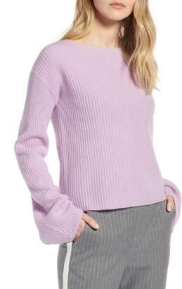 Halogen Bell Sleeve Cashmere Sweater (Regular & Petite)