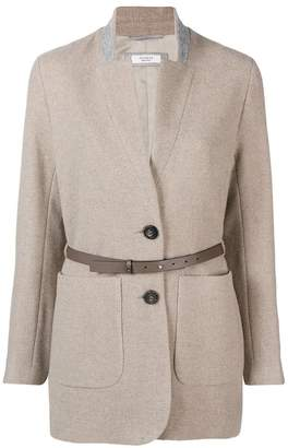 Peserico belted single breasted coat