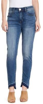 Seven7 Tummyless Uneven Hem Skinny Jean