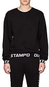 Stampd Men's Logo-Jacquard Cotton-Blend Sweatshirt-Black