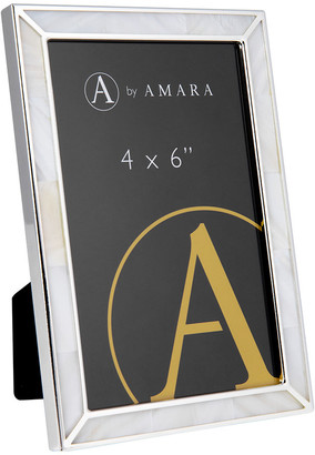 """Mother of Pearl A By Amara A by Amara - Silver Photo Frame with 4x6"""""""