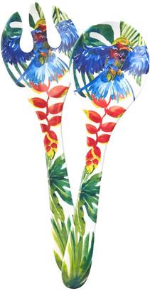 Les Jardins De La Comtesse Les Jardins de la Comtesse - Tropical Birds Salad Servers