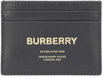 Burberry Printed leather card holder