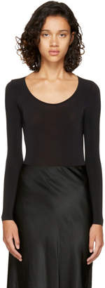 Wolford Black Sheer Buenos Aires String Bodysuit