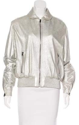Tom Ford Metallic Leather Jacket