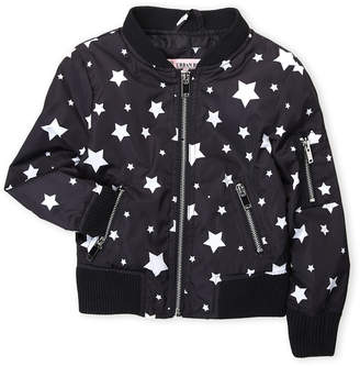 Urban Republic Girls 4-6x) Satin Star Print Bomber Jacket