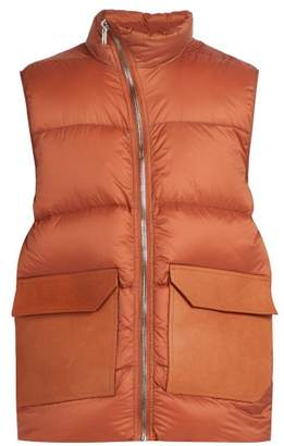 Rick Owens Mollino Quilted Down Gilet - Mens - Orange