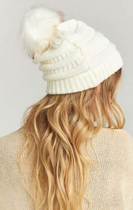 Show Me Your Mumu Riley Pom Pom Hat ~ Ivory