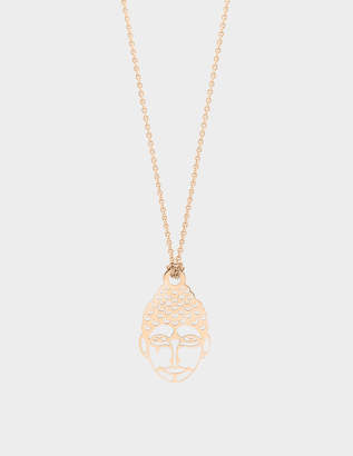 ginette_ny Mini Buddha 18-karat rose gold necklace