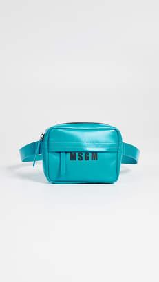 MSGM Leather Belt Bag