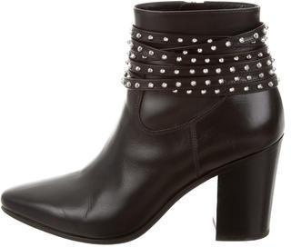 Saint LaurentSaint Laurent Embellished Leather Ankle Boots